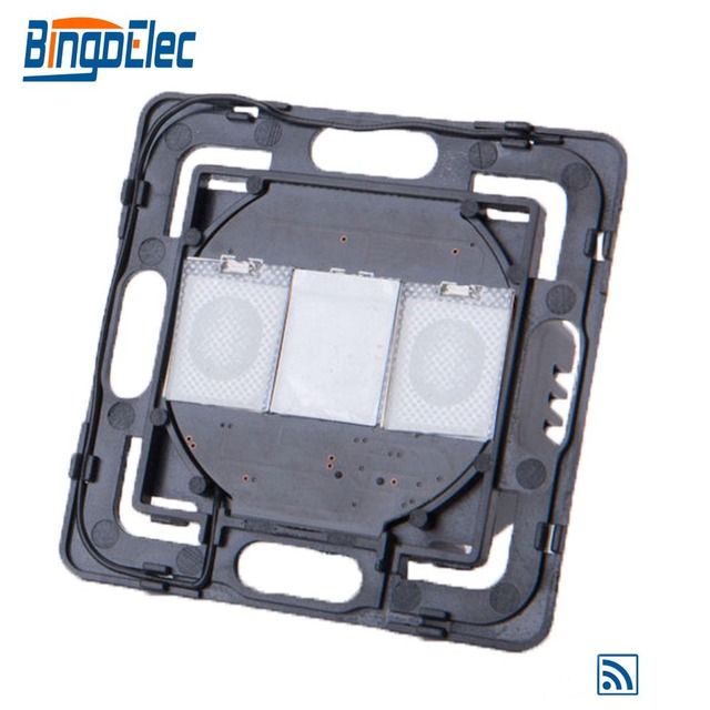 Bingoelec Full Range DIY Parts 1 Gang 1 Way Remote Touch Control Light Switch Part Without No Glass Panel