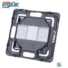 Bingoelec pełna gama części DIY 1 Gang 1 Way zdalne sterowanie dotykowe sterowanie włącznikiem światła część bez panelu szklanego
