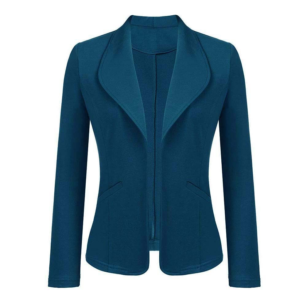SAGACE 2019 Autumn Women's Solid Color Long Sleeve Cardigan Slim Multiple Colour Fashion  Blazer Top Casual Formal Wear