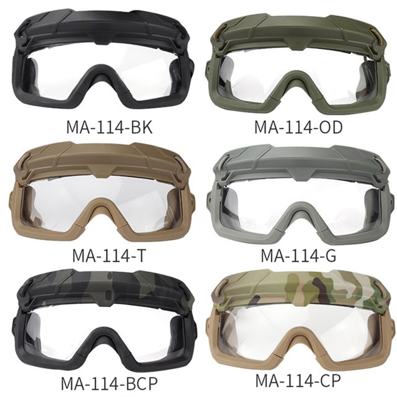 Tactical Goggle Hiking Eyewears Clear Glasses Eyes Protection Outdoor Sport Shooting Airsoft Paintball Military CS Game Anti-fog