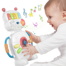 Tumama Multifunctional Musical Toys  Robot Piano Music Light Baby Toys 0-12  Educational Toys For Kids  Musical Instruments