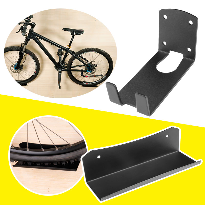 Heavy Duty Bicycle Wall Mount Heavy Cut Steel Bicycle Storage Plate Bracket With Install Screws Up to 25KGS Capacity