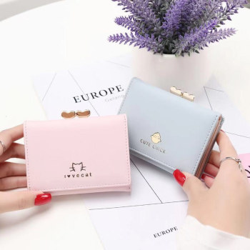 Womens wallet small fashion brand PU ladies and womens card bag clutch