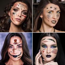 Halloween Temporary Tattoo Stickers Waterproof 3D Fake Reality Vampire Blood Scar Design Sticker 2019 Hot Sale