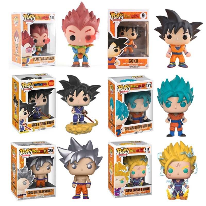 Funko POP Dragon Ball Z Super Saiyan Goku Vegeta Cartoon Anime Figure Doll Vinyl Action Figures Collectible Model Toys 2F64