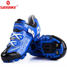 Sidebike Cycling Shoes Mountain MTB Bike Highway Lock Men Athletic mtb Bicycle Shoe sapatilha ciclismo White Red