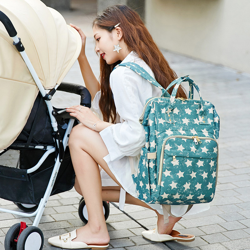 Oxford Cloth Casual Mummy Bag Pregnant Women Expectant Multi-functional Mummy Bag Aiaper Infant Mommy Bag MOTHER'S Bag