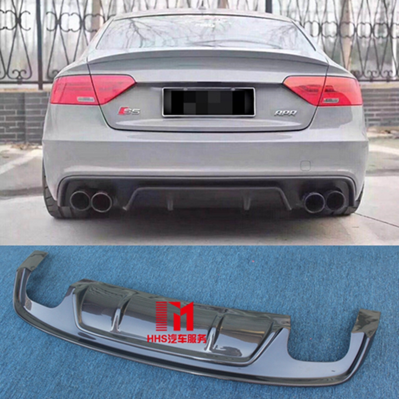 A5 High Qualiy Carbon Fiber Rear Lip Diffuser Car Styling For Audi A5 S5 Style Car body kit 2012 2016