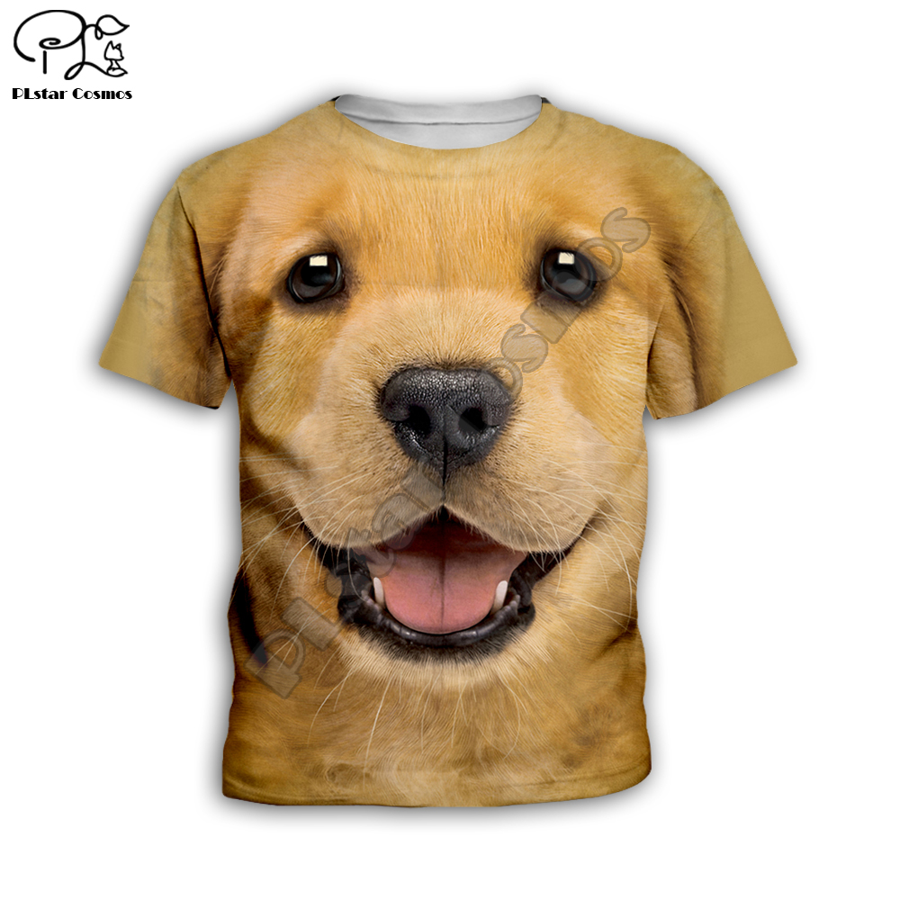 Kids cute <font><b>Dog</b></font> face Children's wear 3d T-shirt Boys/Girls Printed funny pig/shark Top Short Sleeve Christmas <font><b>Tshirts</b></font> dropShipKT14 image