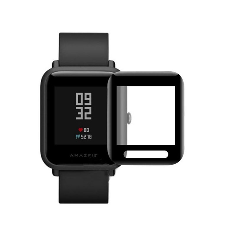 3D Curved PET (Not Glass) Soft Full Edge Cover Protective Film For Xiaomi Huami Amazfit Bip 2 Lite Youth Watch Screen Protector