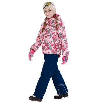 Детский лыжный костюм s, новинка 2019, лыжный костюм для мальчиков и девочек, водонепроницаемые штаны + куртка, комплект зимней спортивной утол
