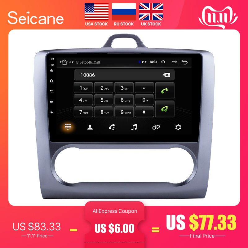 Seicane 2 DIN 9 Zoll Android 8.1 GPS Navigation Touchscreen Quad-core Auto Radio Für 2004 2005 2006-2011 ford Focus Exi ZU
