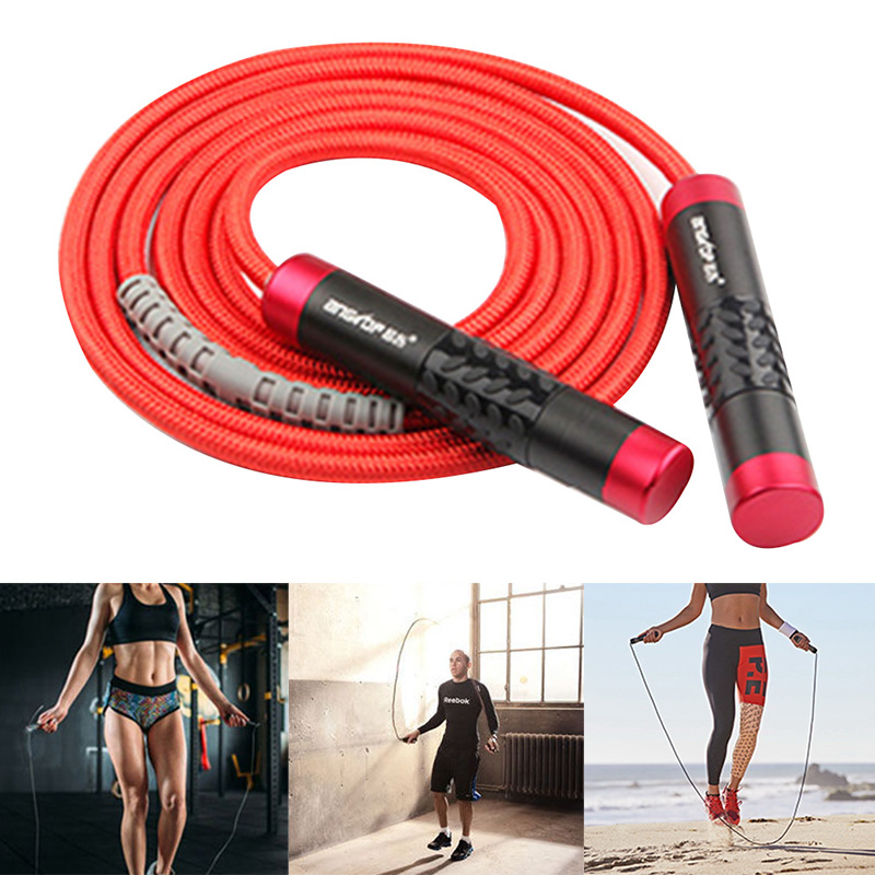 3 Meters Heavy Bearing <font><b>Skipping</b></font> <font><b>Rope</b></font> Gym Exercise Jump <font><b>Rope</b></font> Aluminium <font><b>Handle</b></font> Bold PVC <font><b>Rope</b></font> Fitness Training Equipment ED image