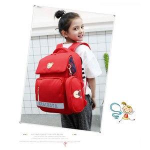 Image 5 - 소년 소녀를위한 정형 외과 satchel 배낭 어린이 초등학교 가방 어린이 경량 대용량 bookbags mochila infantil