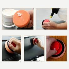 Juego de 6 unids/set de esponja de microfibra para lavado y encerado, incluye agarraderas y 5 esponjas