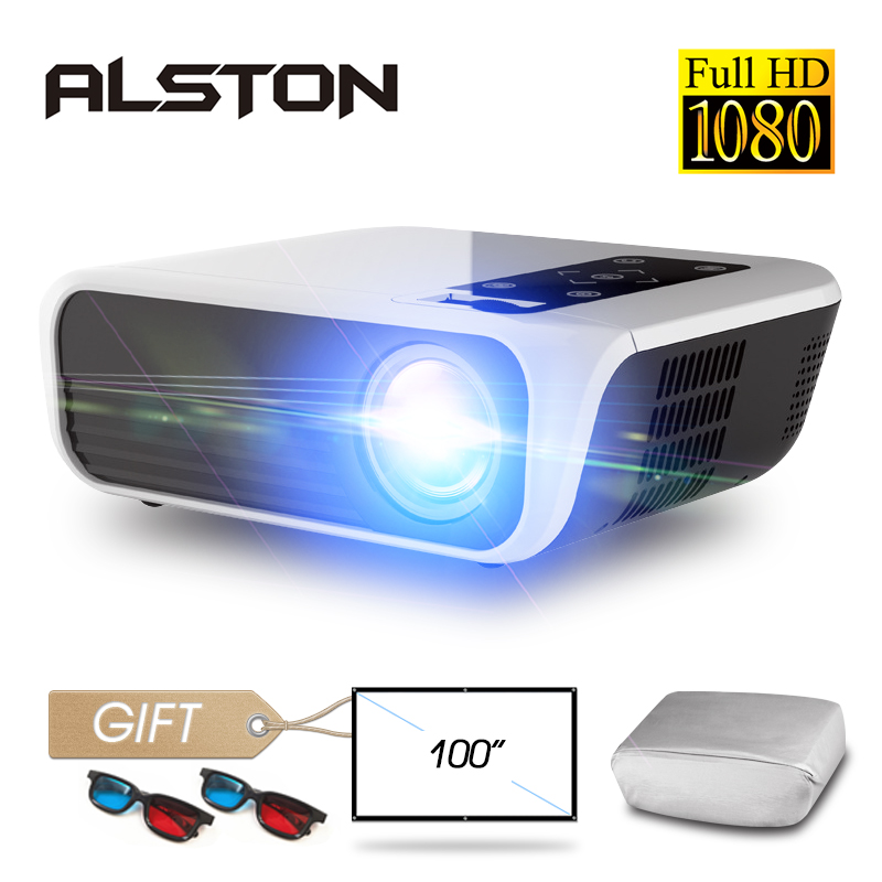 ALSTON T8 Full HD 1080p projector 4k 5000 Lumens cinema Proyector Beamer HDMI USB AV with gift|LCD Projectors| |  - title=