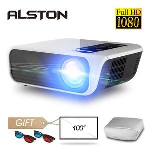 Image 1 - Projektor ALSTON T8 Full HD 1080p 4k 5000 lumenów projektor kinowy Beamer HDMI USB AV z prezentem