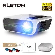 אלסטון T8 מלא HD 1080p מקרן 4k 5000 Lumens קולנוע Proyector Beamer HDMI USB AV עם מתנה