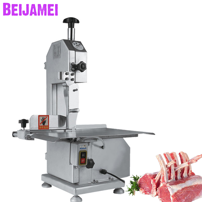 BEIJAMEI Commercial Fish Cow Steak Frozen Meat Cutter Table Electric Band Saw Bone Meat Cutting Machine