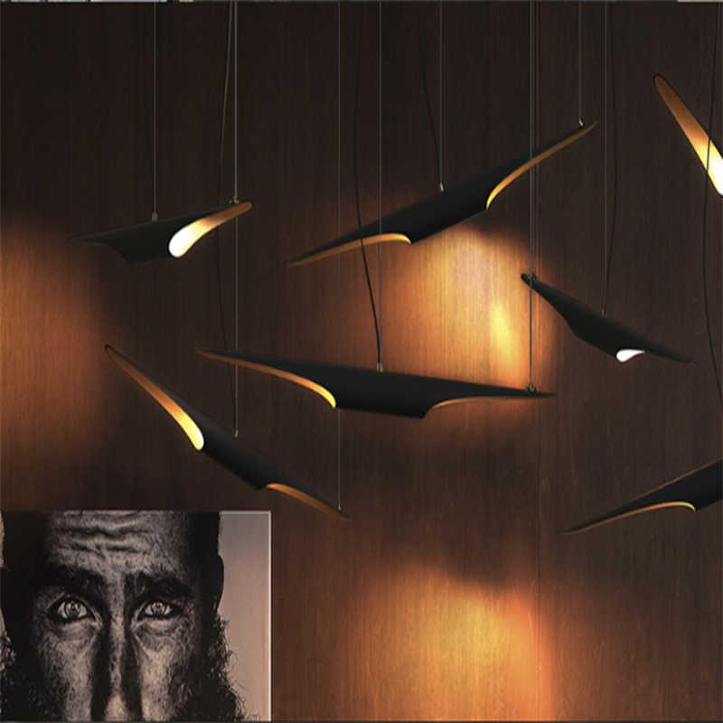 העתק Delightfull קולטריין דקורטיבי תעשייתי תליון מנורת לופט שחור + זהב אופנה מסעדה תליית תאורת מנורות