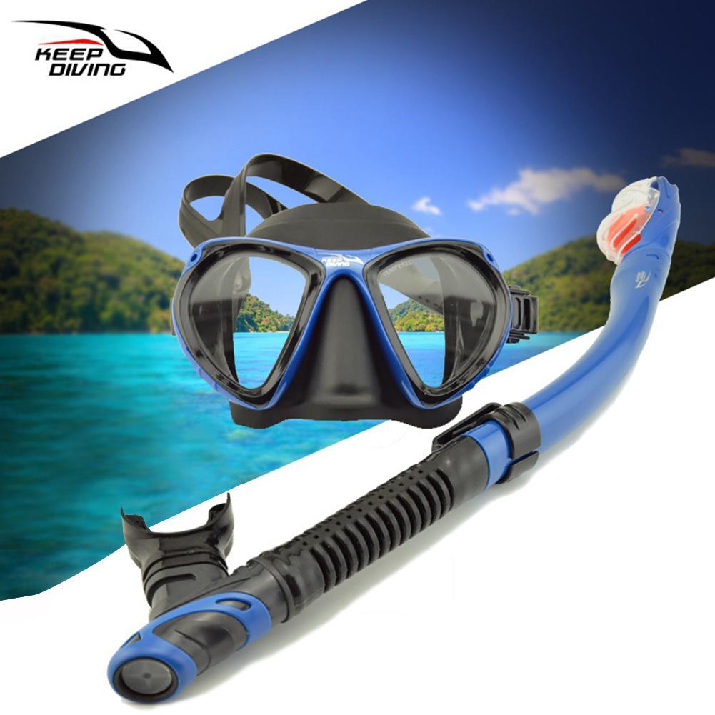 DM406+SN506 Professional Diving Full-dry Snorkeling Mask Foldable For Adult Folding  Scuba Diving Mask