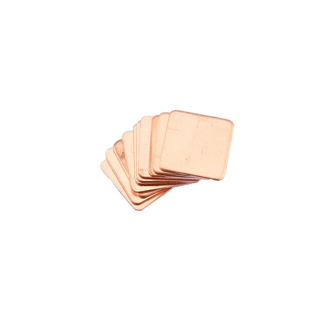 10pcs Pure Copper Brass Heatsink Shim Thermal Pad Barrier For Laptop Graphics Card 15x15mm Fast Thermal Dissipation