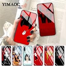 YIMAOC Pulp Fiction smoke gun girl Glass Case for Xiaomi Redmi 4X 6A note 5 6 7 Pro Mi 8 9 Lite A1 A2 F1