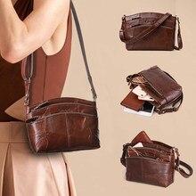 Cobbler Legend Vintage Genuine Leather Bag Female Small Women Handbags Bags for Women 2018 Multi Pockets Shoulder Crossbody Bag