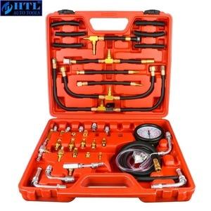 Image 1 - TU 443 deluxe manômetro medidor de pressão combustível kit teste do motor bomba injeção combustível tester sistema completo