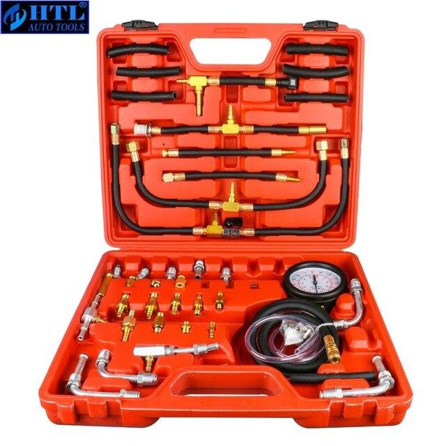 TU 443 deluxe manômetro medidor de pressão combustível kit teste do motor bomba injeção combustível tester sistema completo