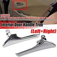 Cubierta de manija de puerta interior de coche S211 cromada izquierda/derecha para Mercedes Benz S211 W211 W219 2003 2009|Pomos de puerta interiores| |  -