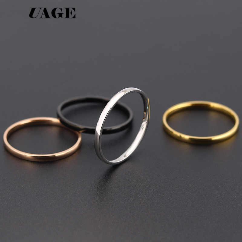 Uage masculino preto prata rosa titânio inoxidável anel direto da fábrica amante casal anéis para mulher