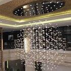 Glass bird chandelie...