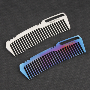 Image 2 - Mini Portable Titanium Alloy Comb EDC Super Light Titanium Comb  EDC Outdoor Small Accessories