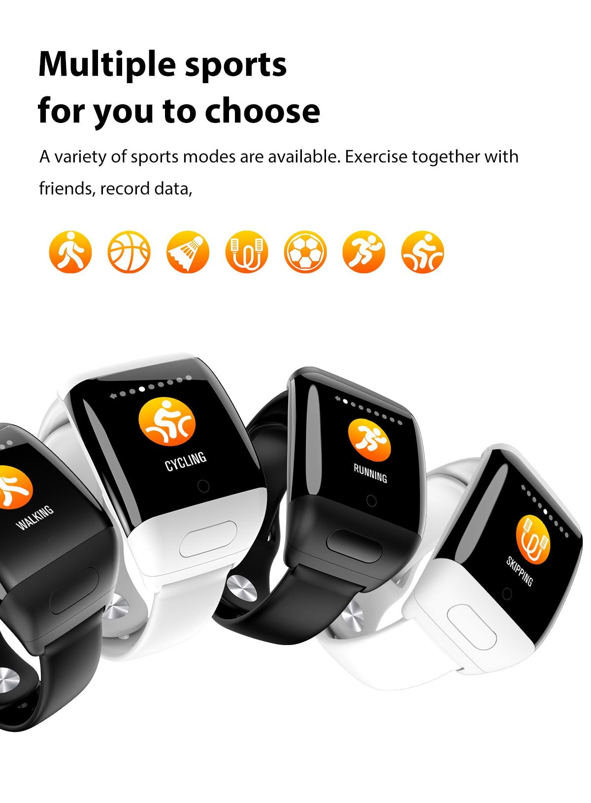 Спортивные умные часы Trackbuds D8, новые умные часы AI с Bluetooth наушниками, пульсометром, смарт браслет с длительным временем работы в режиме ожида
