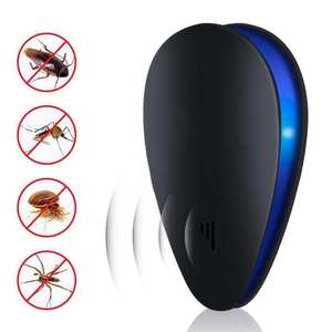 Ultrasonic Pest Repeller Mouse Mosquito-Cockroach Reject Spider in Bug EU/UK