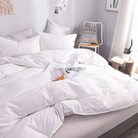 Egyptian Cotton Luxury Duvet Cover Bed Comforter/Quilt Cover Case Bedclothes King Queen Single Double Solid Color White Gray Red