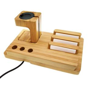 Image 5 - Fenix 6 Bamboo Wood Fenix Charger Charing Dock Holder for Garmin Fenix 5/5X/5S/Desk Station Organizer with Charing Cable
