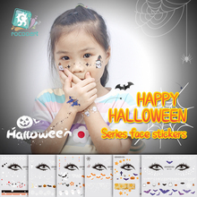 Facial Makeup Sticker Kid Special Waterproof Face Tattoo Day of The Dead Skull Face dress up Halloween Temporary Tattoo Stickers