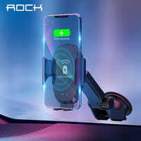 ROCK 10W QI Drahtlose Infrarot Sensor Automatische Auto Ladegerät für Samsung Galaxy S8 S9 Schwerkraft Halter Quick Charge Lade stehen