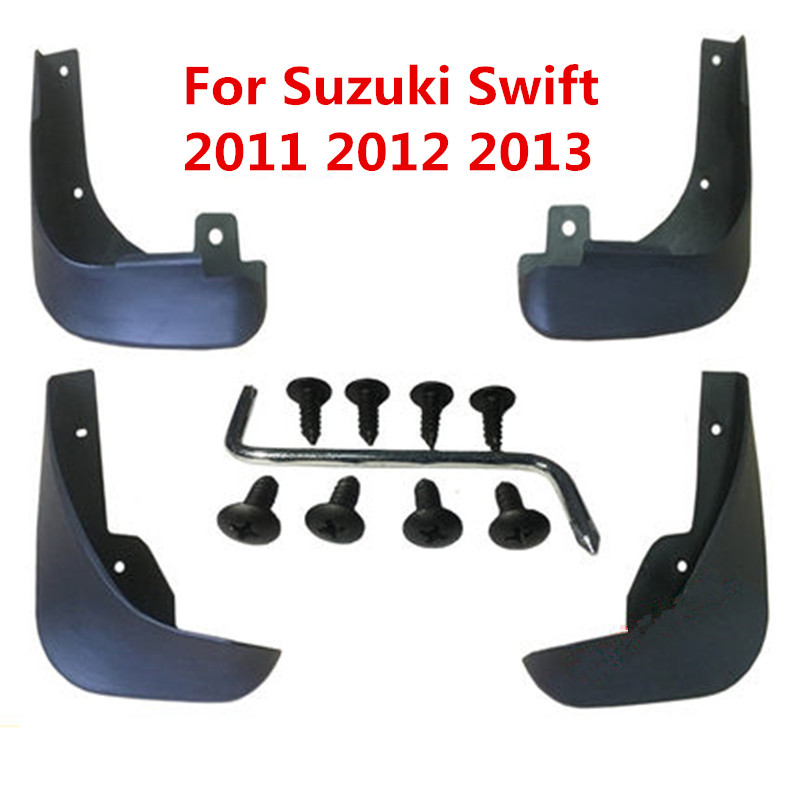 Car Mudflaps Splash Guards Mud Flap Mudguards Fender For Suzuki Swift 2011 2012 2013 2014 2015 2016 Car Styling Accessories image