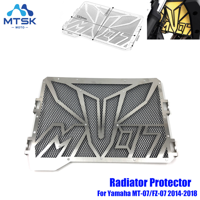 Radiator Grille Guard for YAMAHA FZ-07 2013-2019 Black Radiator Grill Cover//Protector