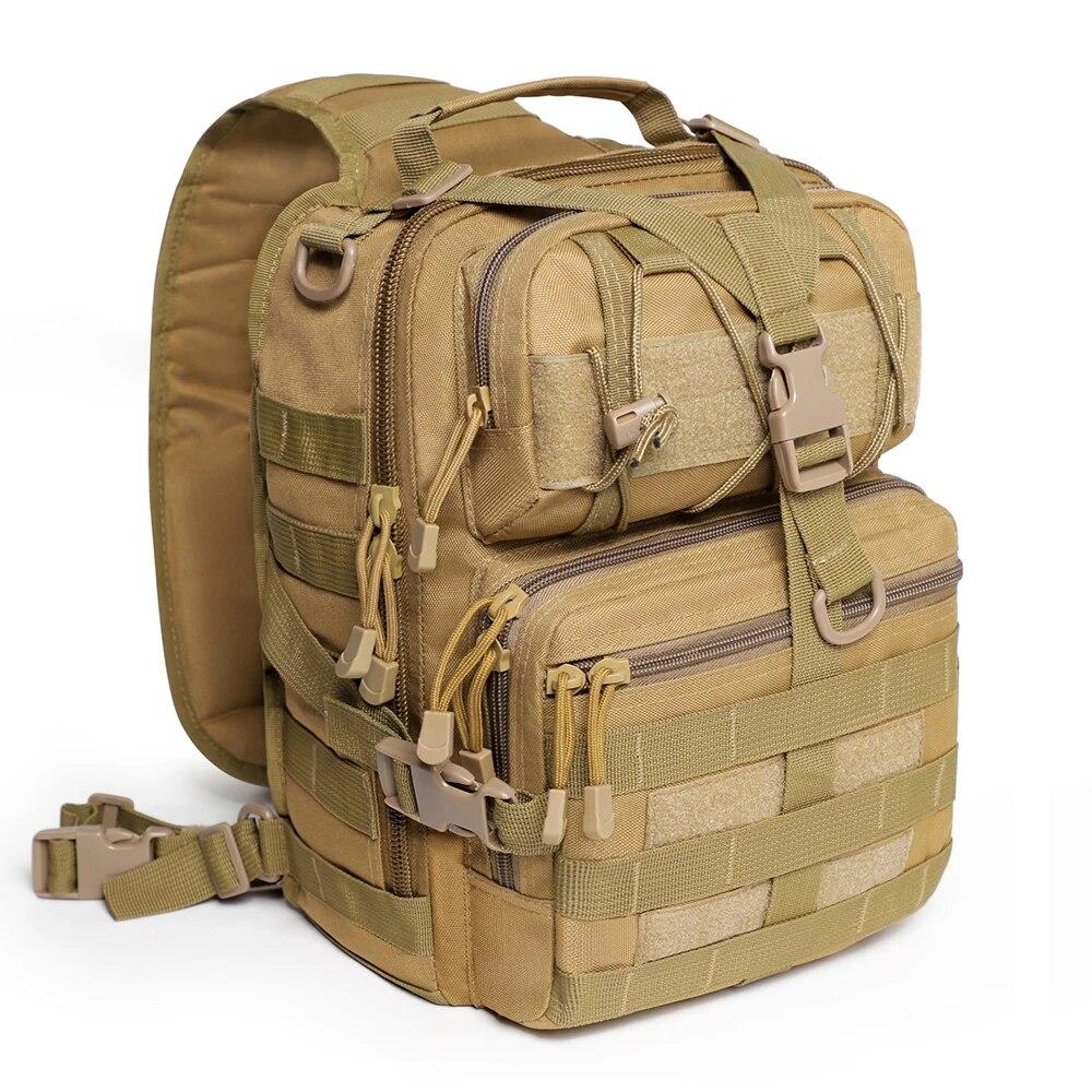 20L Waterproof Military Sling Backpack Army Tactical Shoulder Bag Camping Hiking