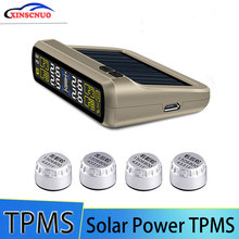 Solar Power TPMS Wireless Tire Pressure Monitoring System Car tyre Pressure Alarm System With LCD Color Display