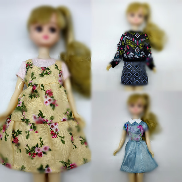 1/6 clothes For Dolls For Licca doll Momoko Doll Blyth doll clothes Jumpsuit dress suit For Girls Dolls 1