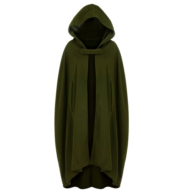 Hooded cape capetet sweater hood toggle buttons buttons small vintage hoodie