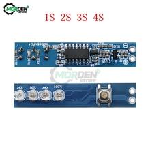1S/2S/3S/4S lityum pil kapasitesi test cihazı güç seviyesi göstergesi modül LED ekran kartı 18650 lityum Li-ion lipo pil