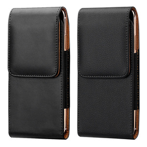 Promo Universal Leather Case For IPhone Samsung Huawei Xiaomi Mens Waist Pack Belt Clip Bag For 3.5-6.3