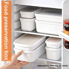 Pudełka do przechowywania gospodarstwa domowego pojemnik na żywność zaplombowana do sortowania przechowywania pudełko do przechowywania świeżego kuchnia odporna na wilgoć pojemnik Bento do układania w stos tanie tanio CN (pochodzenie) Europa Food storage box microwave oven heated lunch box 350ml-0 064kg 700ml-0 082kg 800ml-0 118kg 1600ml-0 150kg