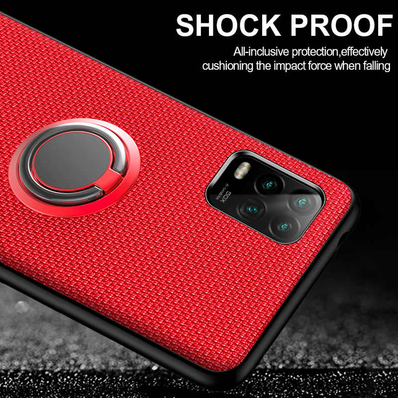 Telefoon Case Voor Xiaomi Mi 10 Lite Note 10 9T Redmi Note 9S 8 Pro 8T Case auto Magnetische Stand Ring Shockproof Bescherming Cover